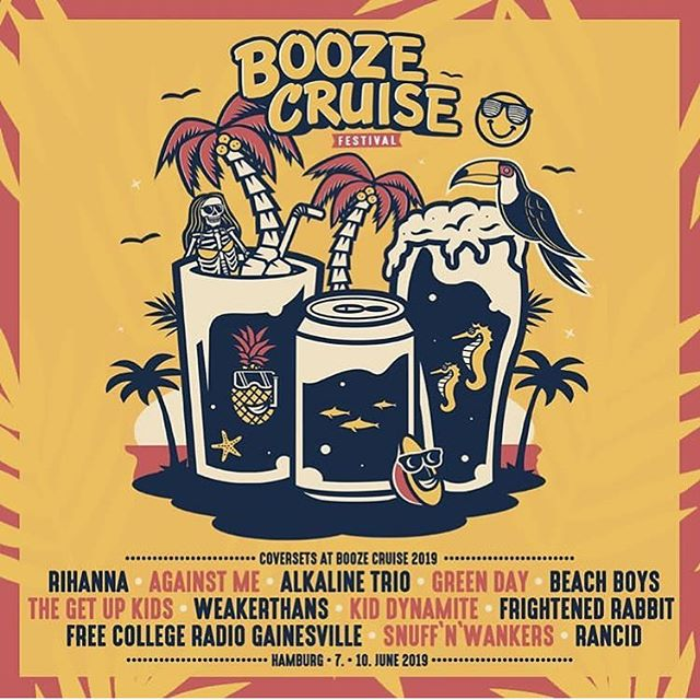 Cool news about BOOZE CRUISE - Festival in Hamburg! I'm finally able to announce that I'm playing a cover set by one of my all time favorite bands/songwriters: Frightened Rabbit! (RIP Scott)  It was a pretty dang funny email to get saying that I'm playing between Green Day and Rihanna, too