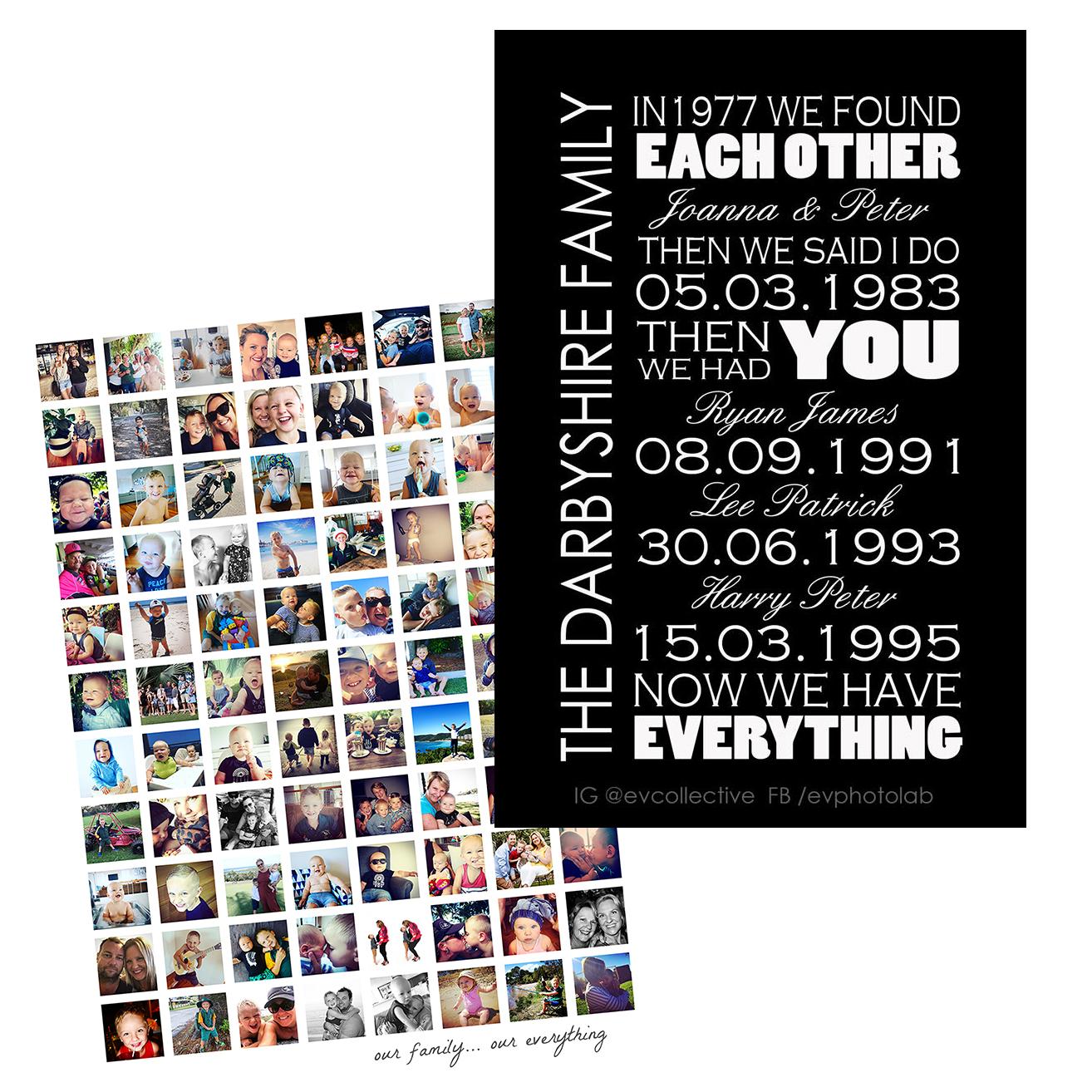 Instagram Frames - personalized family scrolls
