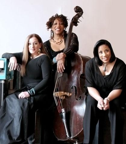 Straight Ahead Trio Alina Morr, Marion Hayden and Gayelynn McKinney