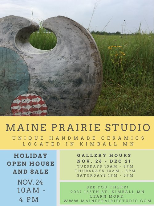 Holiday Open Studio and Sale