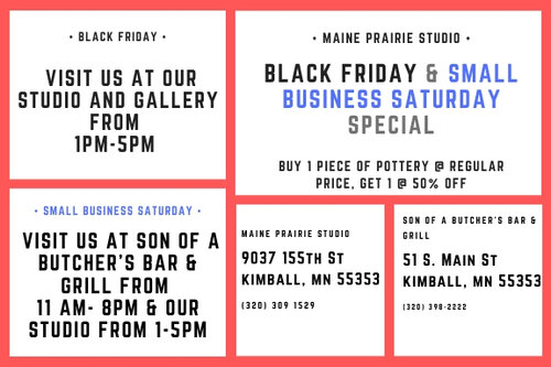 Black Friday & Small Business Saturday  Specials