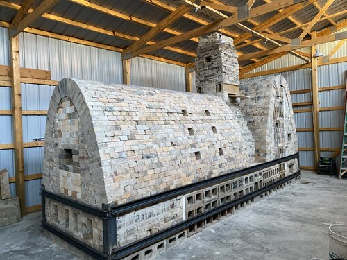 Our 2 wood fired kilns, the Rocinante and the Raza.