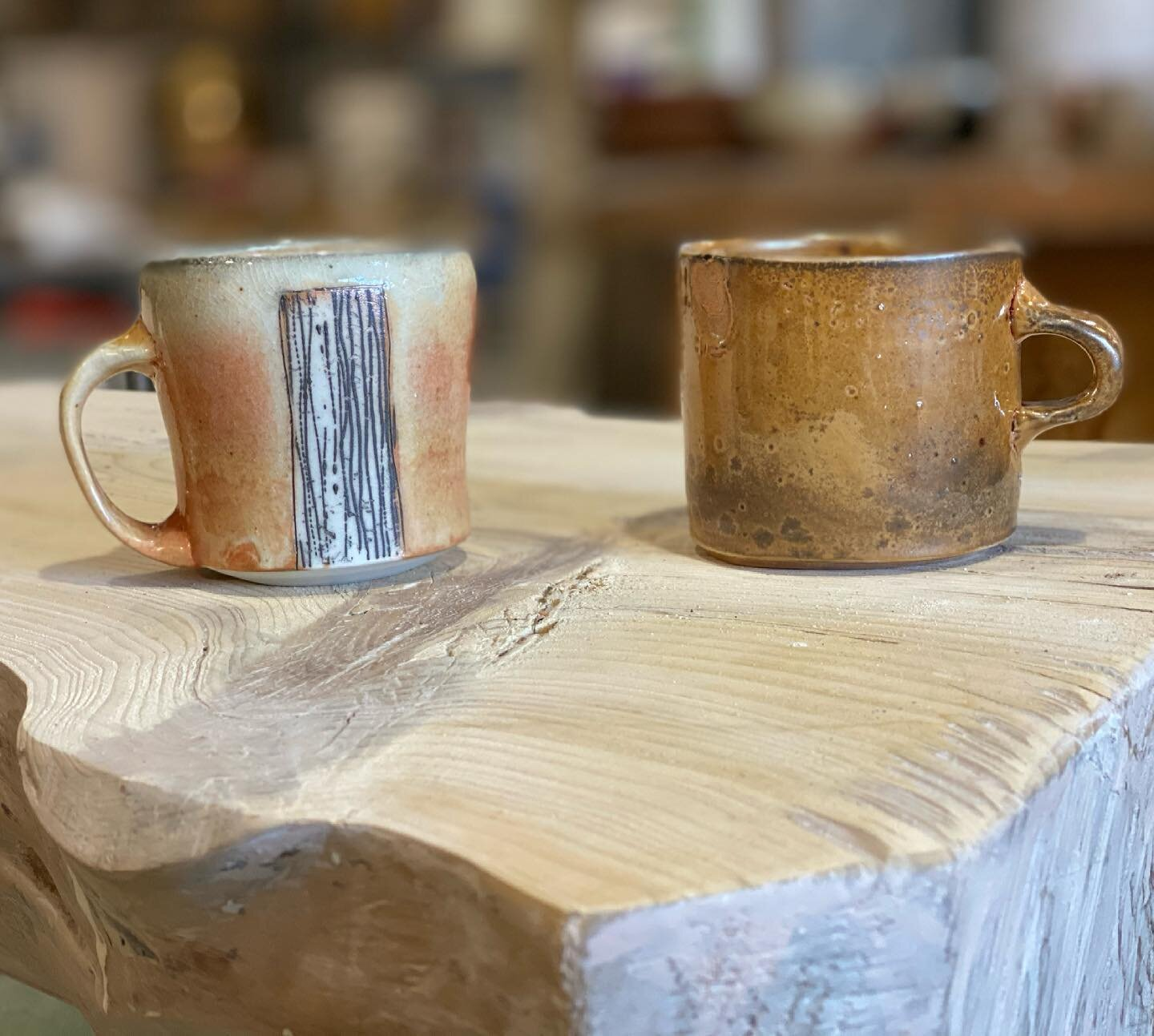 Two of 50 featured pots to added to our website April 1st! Thanks for looking and Happy Monday #mnmade #maineprairiestudio #mugshotmonday #gaskiln #ceramics #shino #porcelain @meganmitchellceramics @jdjorgensonpottery