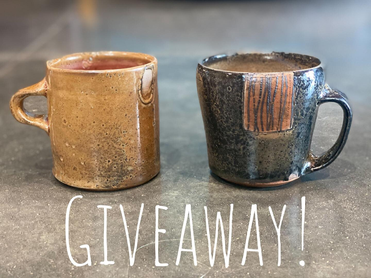 💥Double mug giveaway!💥 We wanted to say thanks to everyone who has been supporting the growth and momentum of our studio. So to show our appreciation, we would like to giveaway a pair of mugs. One of @meganmitchellceramics and one of @jdjorgensonpottery . They are both 14oz. mugs made of porcelain with a lovely carbon trap Shino glaze on them.  This giveaway is not associated with Instagram and is open worldwide.  To enter:  1. like this post  2. Follow @maineprairiestudio  3. Tag some friends who would like these mugs. Each tag is another entry.  4. For 5 extra entries share this t your story but make sure to tag us so we can see it!  The giveaway will be open until 1pm CST, April 10th. Winner will be chosen at random and DM'ed to claim their mugs. Winner will be announced Monday April 12th at 1pm. Good luck everyone!