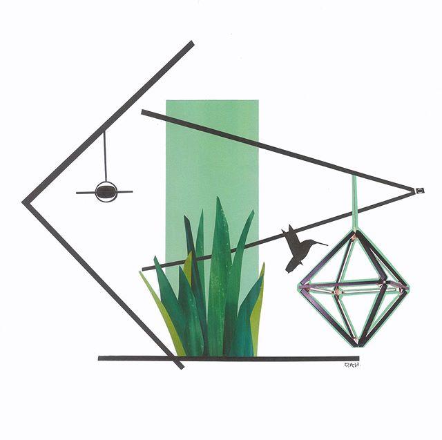 """Hummingbird""  #art #modern #collage #midcentury #artwork #artist #local #sandiego #interiors #interior #design #interiordesign"