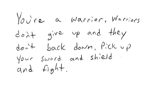 your a warrior