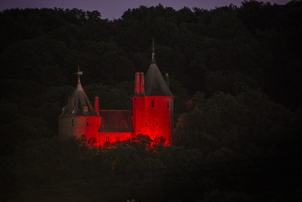 Castell Coch photographed from near Ty-Nant Road, Morganstown