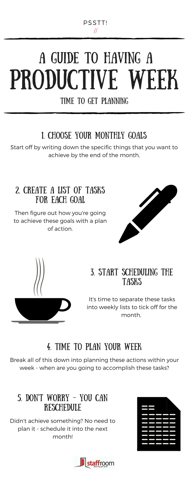 HOW TO MAKE SURE YOUR WEEK IS PRODUCTIVE