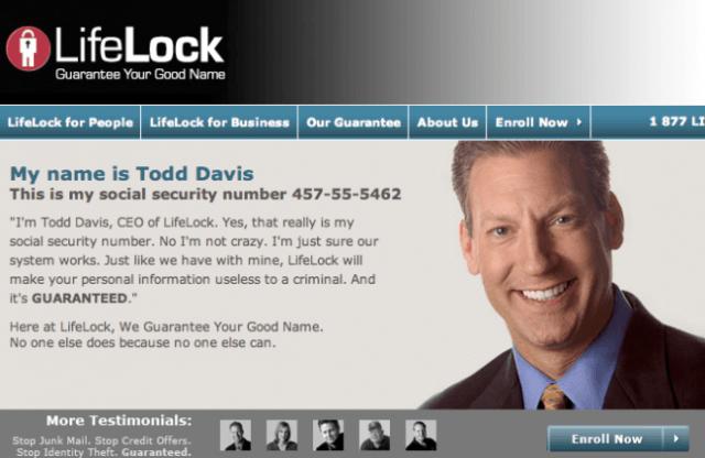 LifeLock's failed dare - from workzone.com