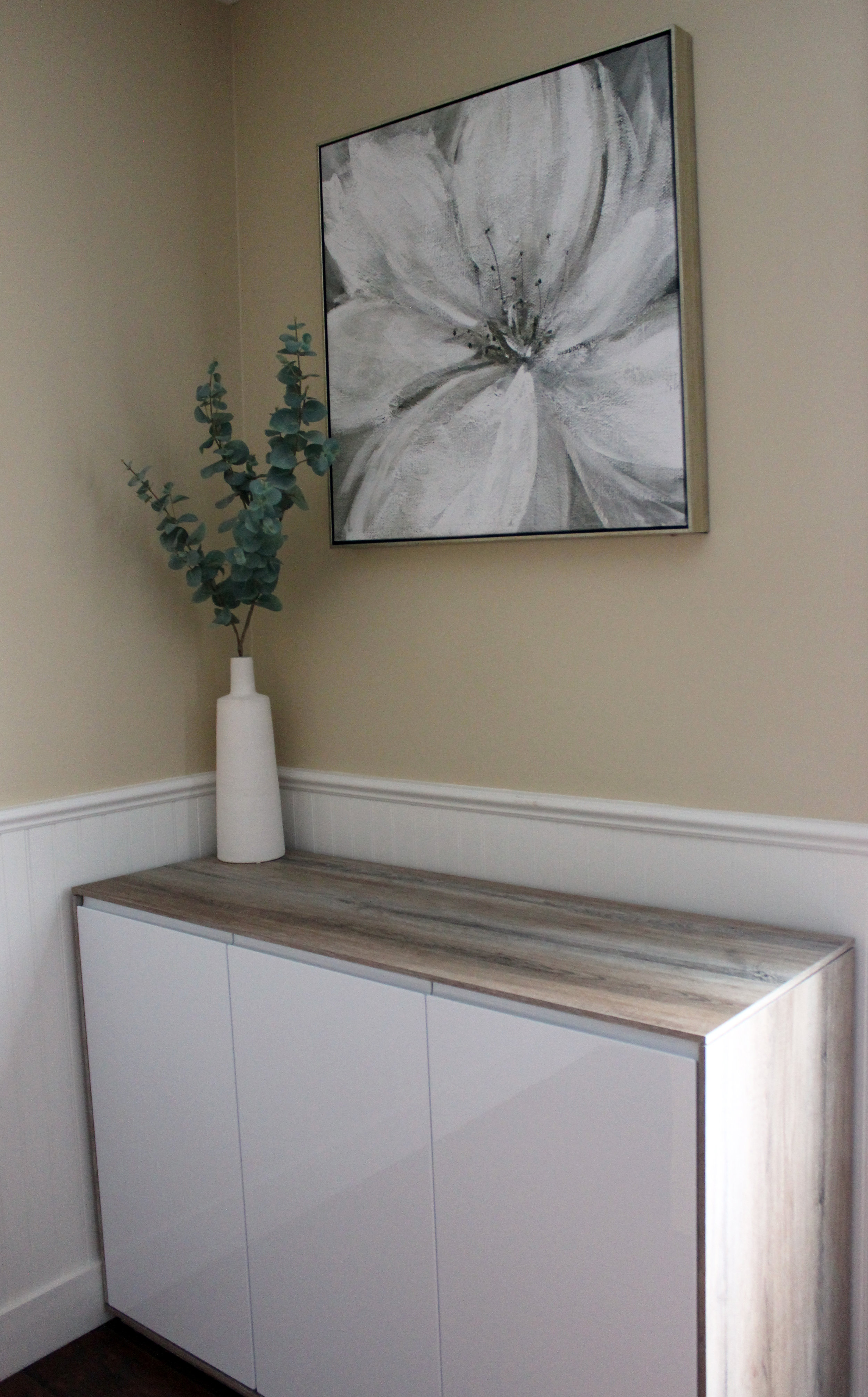 Contemporary sideboard with art & decor