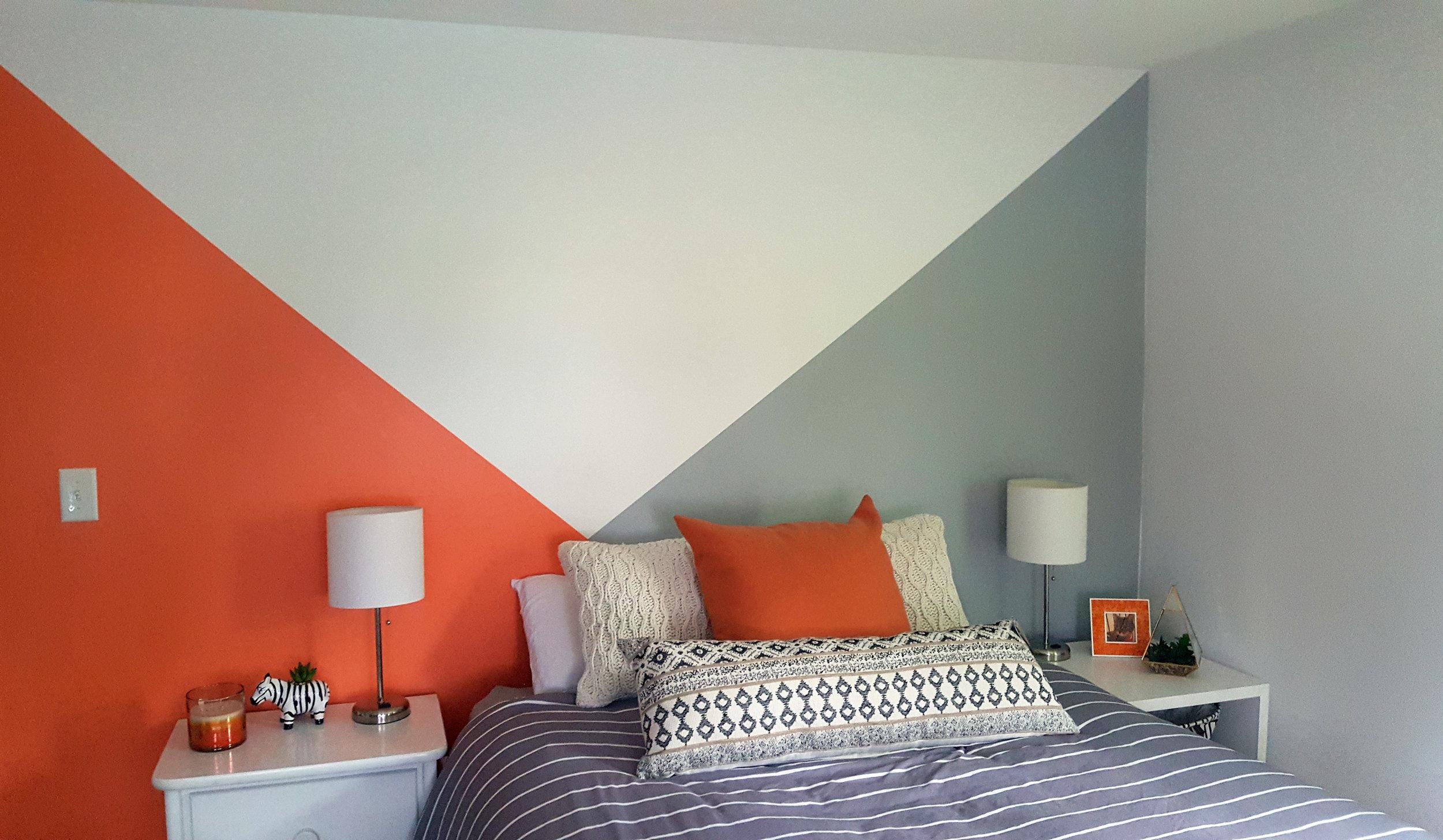 BRIGHT MODERN GEOMETRIC BEDROOM