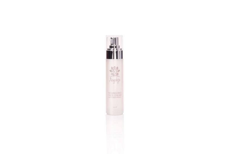 Crème nourissante - Hydrate, apaise et nourrit la peau et procure une protection anti-oxydante exceptionnelle. Contient de l'huile d'argousier, du panthénol ProVitamine B5, de l'aloe vera.