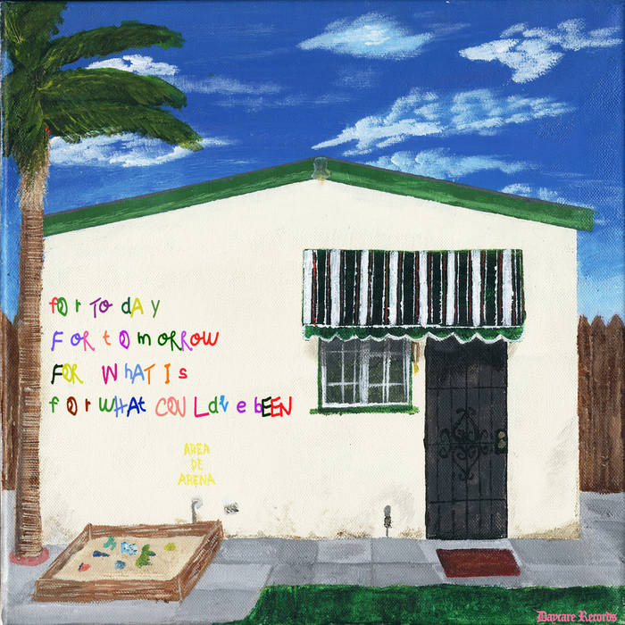 """RECENT RELEASE: For Today, For Tomorrow, For What Is, For What Could've Been     """"Presented in a colorful painting of a middle-class home, the newest album by garage rock band The Red Pears reflects their upbringing in their hometown of El Monte. Their sophomore work is a continuation of the music they have been producing for a couple of years.""""    – Ivan Salinas of The Sundial"""