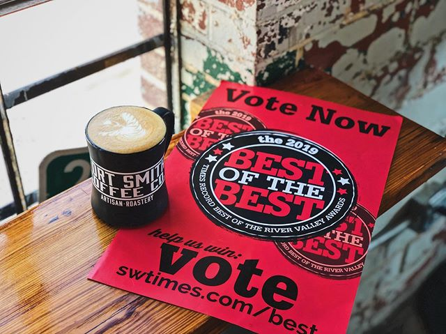 "Thank you for voting us into the final round, in this year's SW Times Best of the River Valley Awards, in TWO categories! ❤️ Vote for us, once daily, through Aug 11th. ""Food & Drink"" (COFFEE SHOP) ""People & Places"" (GREEN BUSINESS). Link in bio. 😉"