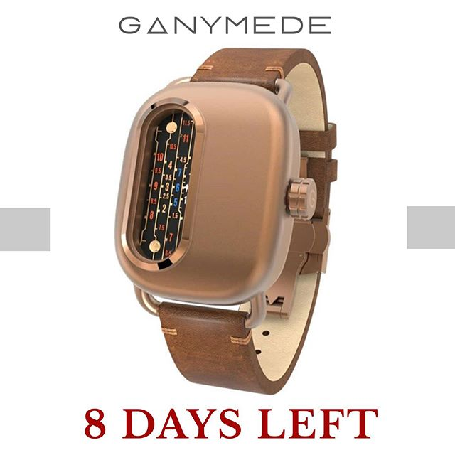 The Series 01 watch is at this special price for only 8 more days. Claim your exclusively numbered watch today. #LinkInBio  On Kickstarter now at $350!  bit.ly/ganymede01  316L #StainlessSteel case with bronze PVD and distressed brown leather strap.  #watch #watches #watchesofinstagram #style #fashion #timepiece #horology #jewelry #wristwatch #lifestyle #accessories #minimalism #design #technology #kickstarter #vintage #luxurywatch #steampunk #steampunkfashion #NewYork #Atlanta #Miami #SanDiego #LosAngeles #Houston #MensFashion #uniquedesign