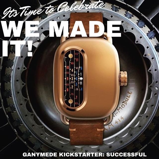 It's not too late for you! You still have about 24 hrs left to get yours at $75 off on #Kickstarter! We are 103% funded! Ganymede Watches' Series 01 is going into production.