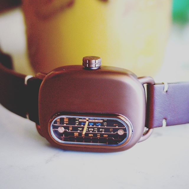 Ganymede Series 01 available for preorder now! Ships in November!  Link in bio.  316L stainless steel case with bronze PVD and distressed brown leather strap.  #retro #steampunk #watch #watches #watchesofinstagram #style #fashion #timepiece #horology #jewelry #wristwatch #lifestyle #accessories #minimalism #design #technology #kickstarter #vintage