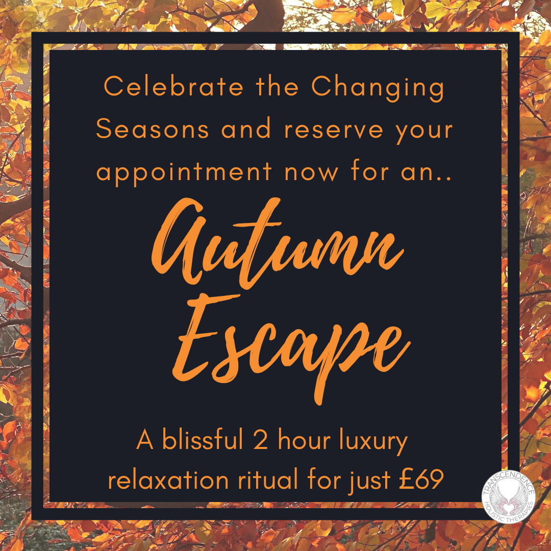 Autumn Escape 2 Hour relaxation ritual. hot stone massage, facial, reflexology