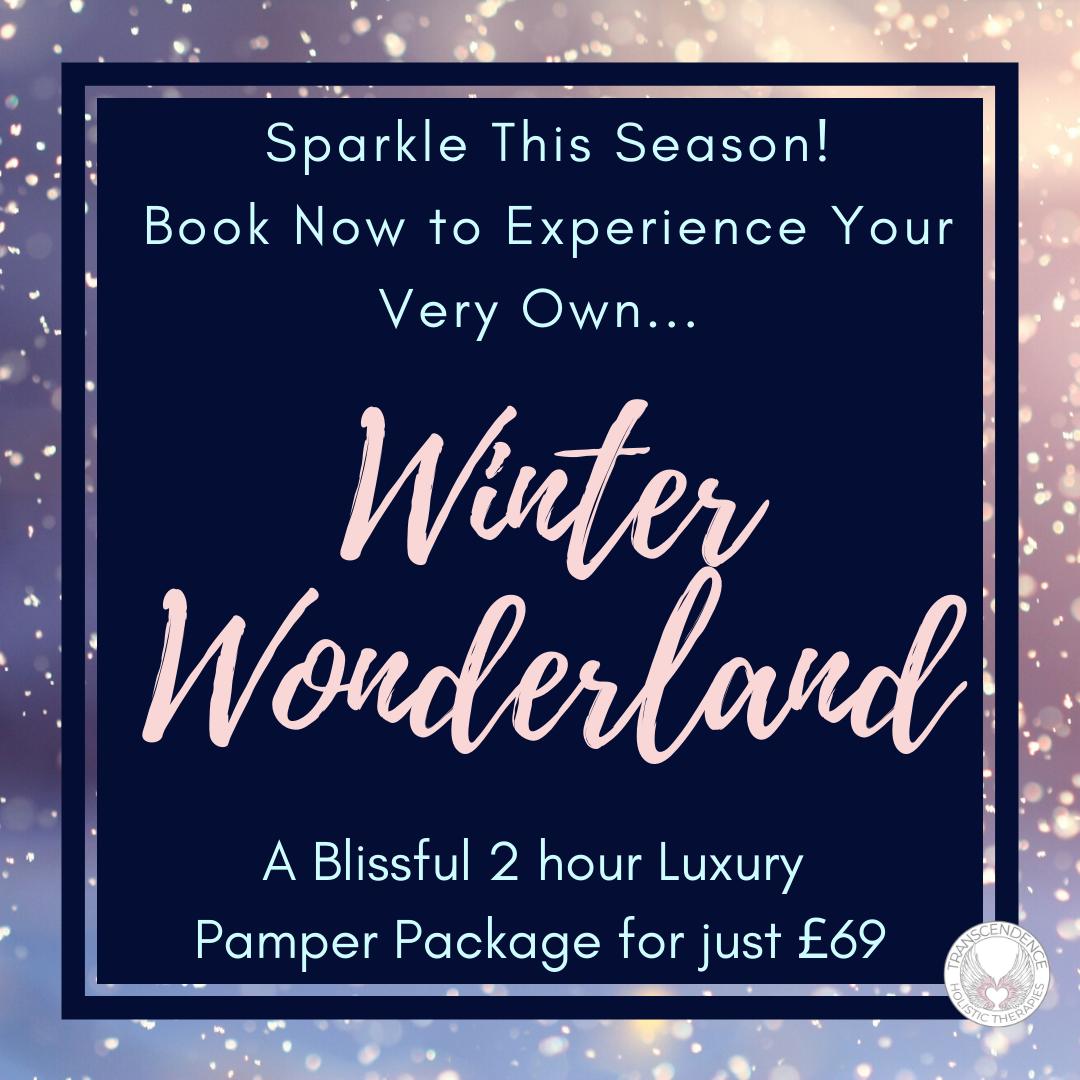 winter wonderland. 2 hour pamper package hot stone massage, facial, reflexology
