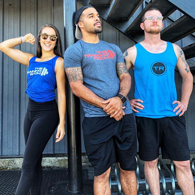 We don't require you wear a shirt @thetrainingroomatlanta, but if you do...keep it cool this spring in our new TR tanks and tees. ❄️❄️ Just $20 a pop. Get 'em while they're hot. 🔥🤳🏽
