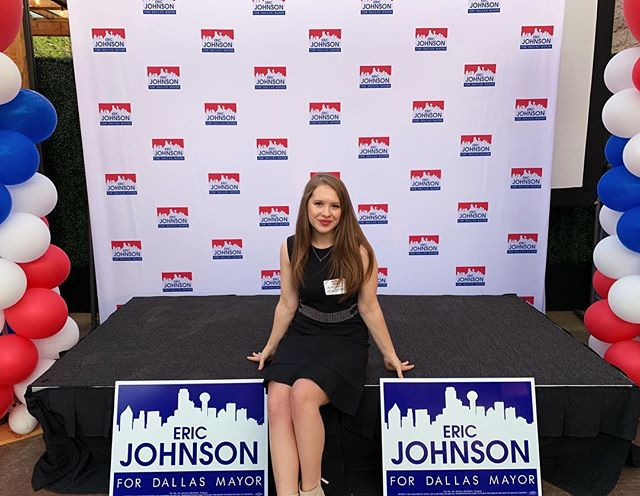 congrats to my boss @johnsonfortexas on your big night! #dallasmayorialrace #blockwalking
