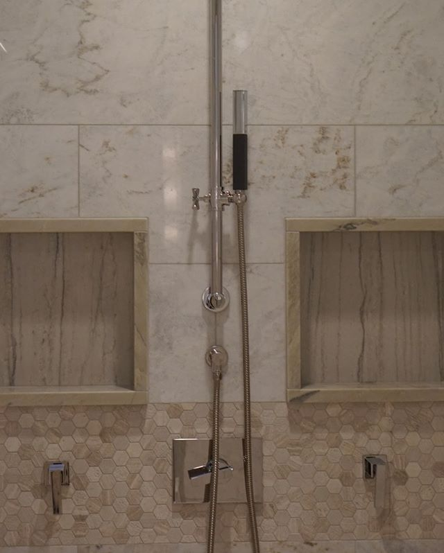 Ceiling rain shower, body sprayers, and a hand held, this master bath is fully loaded. What do you think?⠀⠀⠀⠀⠀⠀⠀⠀⠀ -⠀⠀⠀⠀⠀⠀⠀⠀⠀ -⠀⠀⠀⠀⠀⠀⠀⠀⠀ -⠀⠀⠀⠀⠀⠀⠀⠀⠀ -⠀⠀⠀⠀⠀⠀⠀⠀⠀ -⠀⠀⠀⠀⠀⠀⠀⠀⠀ -⠀⠀⠀⠀⠀⠀⠀⠀⠀ #housetour #contemporary #homerenovation #my100yearoldhome #remodel #restoration #Chicagoplumbers #chicagobusinesses #plumbing #newconstruction #modernhome #homedesign #interiordesign #interior123 #happyhome #homelife #luxuryliving #luxury #architecture #modernhouse #smallspacesquad #chicago #chicagobusiness #windycityrehab #realestate #realtorsofchicago #chicagorealestate #fixerupper #hgtv #bathroomgoals