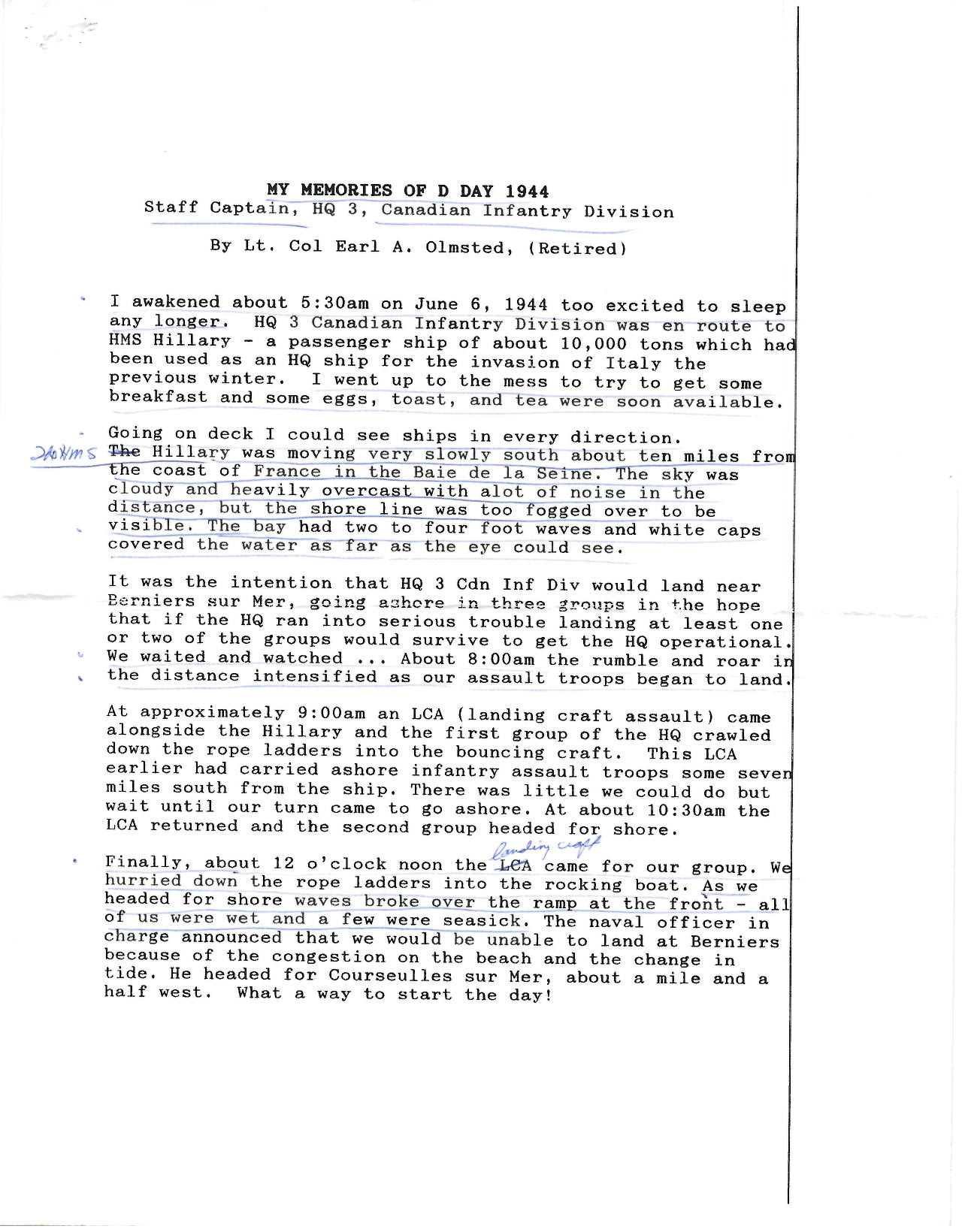 E. A. Olmsted D-Day Account  (Funeral Reading)_Page_1.jpg