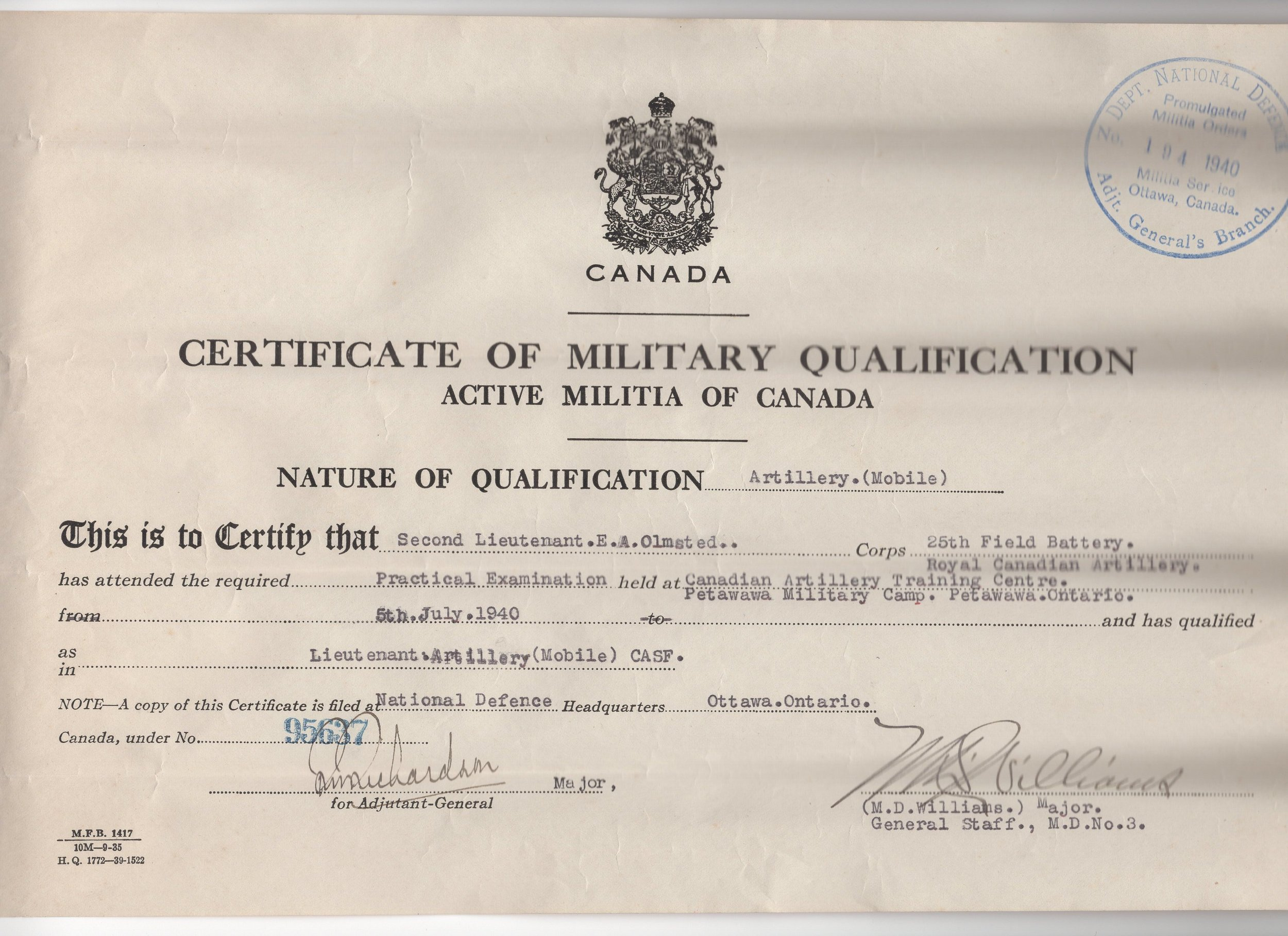 E. A. Omsted Certificate of Military Qualification.jpg