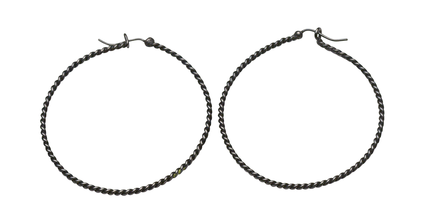 Medium Twisted Wire Hoops