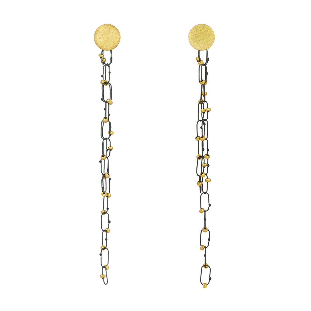 Gold Disc Delicate Line Drop Constellation