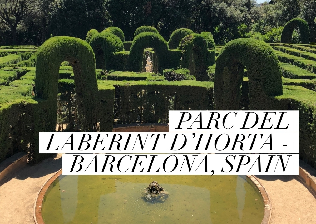 Parc del Laberint d'Horta - Barcelona, Spain - June 2018