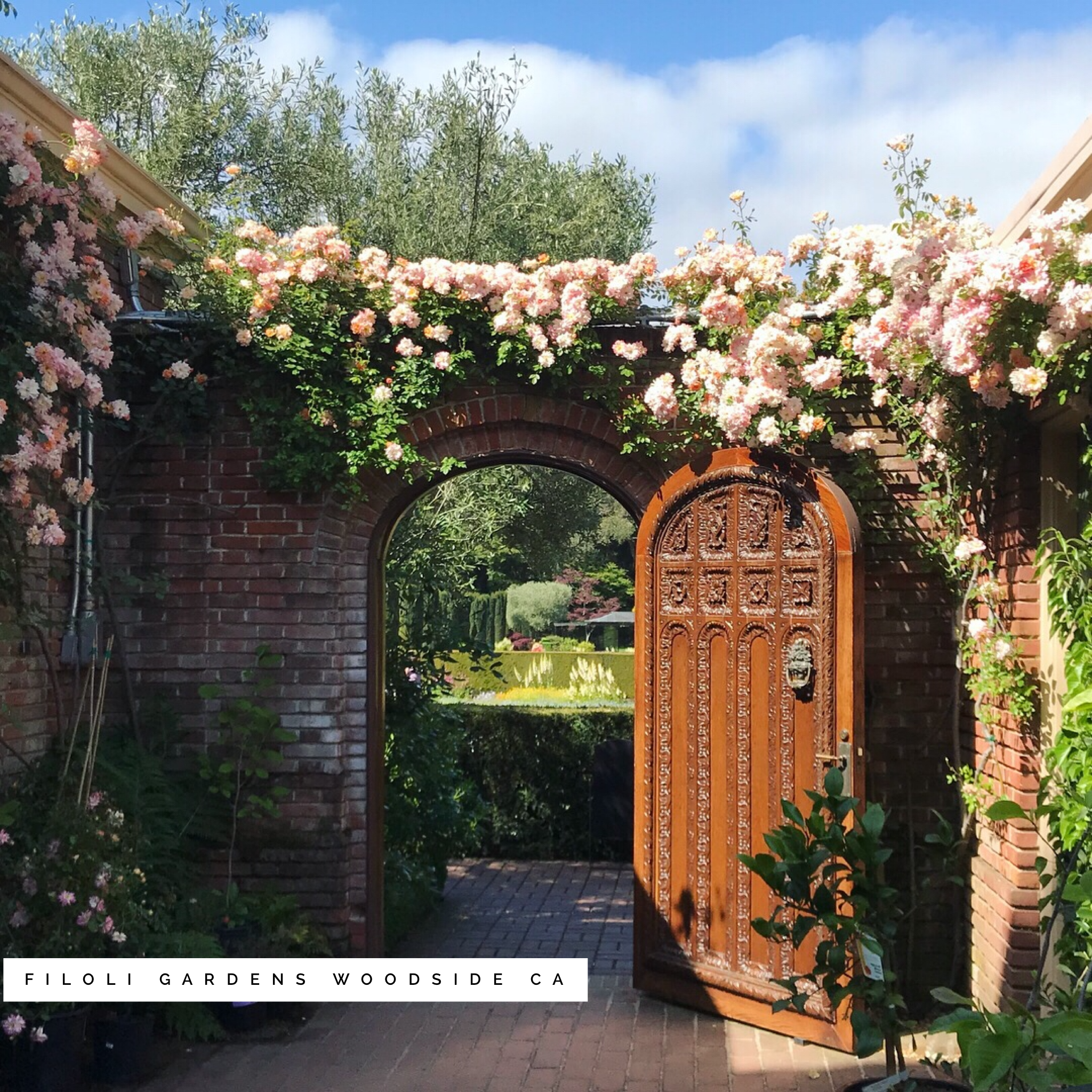 The gates to the gardens were even more breathtaking this time of year!   Filoli Gardens, Woodside, CA - May 2018