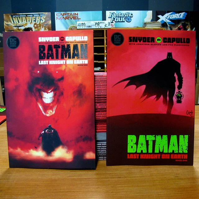 BATMAN LAST KNIGHT ON EARTH IS INCREDIBLE! If you read one thing tomorrow, here it is. This is our latest MUST READ. This is @real_greg_capullo and @ssnyder1835 last Batman comic together, and they come out swinging! Come get yours tomorrow #newcomicbookday !  #ashevillecomics #avlcomics #southasheville #southashevillecomics #ncbd #batmanlastknightonearth #shutupandtakemymoney