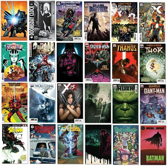 "HUGE NEW COMIC BOOK DAY ALERT! Seriously guys, so many great books out tomorrow! The newest DC ""Black Label"" title, Batman: The Last Knight (if you read nothing else, get this!), Stranger Things (a prequel about 11's Mom) and Rick and Morty's 50TH issue(!), to the new Angel series, DC's new event Leviathan Rising, Spawn and @ed_piskor newest, X-Men: Grand Design, decisions, decisions, decisions... Come by and get yours tomorrow, May 29th for @newcomicbookday !  @imagecomics @marvelstudios @dccomics @toddmcfarlane @brianmbendis #ashevillecomics #avlcomics #southasheville #southashevillecomics #ncbd #newcomicbookday #shutupandtakemymoney"