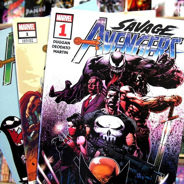 Wish you'd been able to pick up Savage Avengers last month but your favorite comic book store sold out? We got you fam, we still have copies available, even variants! #2 comes out tomorrow, swing by and get caught up!  #ashevillecomics #avlcomics #southasheville #savageavengers #southashevillecomics #ncbd #venom #wolverine #conan #electra #punisher #drvoodoo