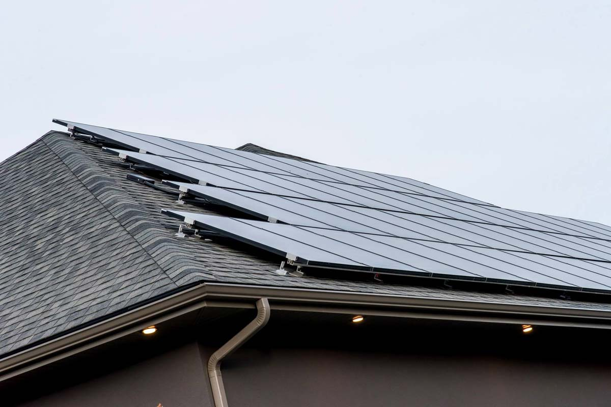 Solar Array on Net Zero House