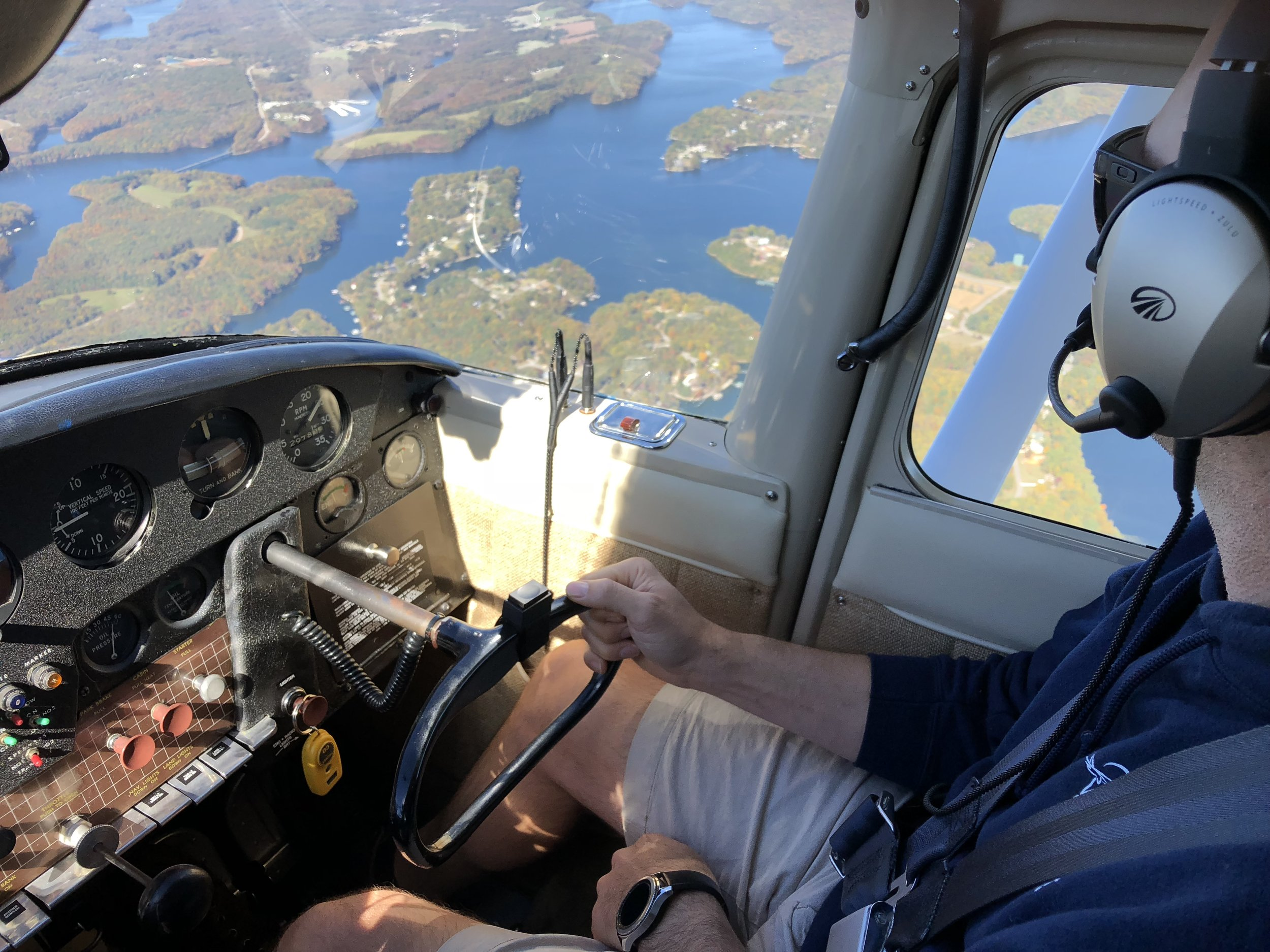 Back in the saddle, flying over Tims Ford Lake