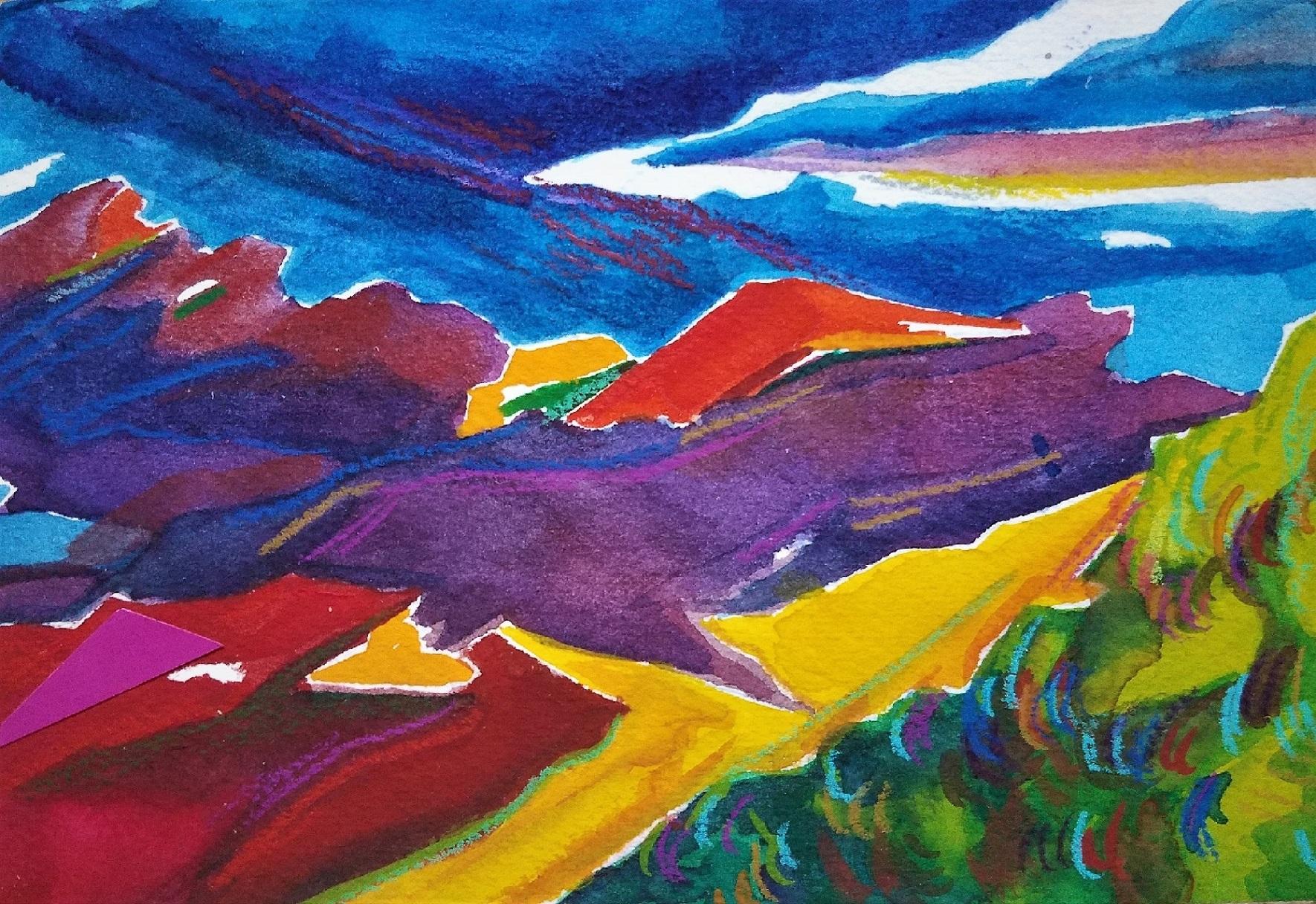 Stance, Watercolor & Color pencil, 4x6.jpg