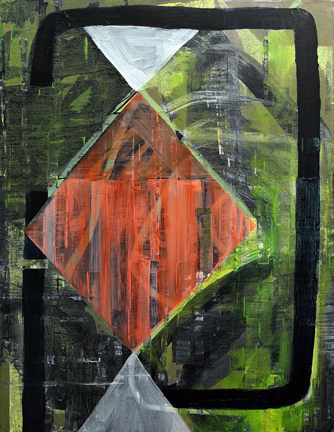Diamond Oil on Canvas 28 x 22 2017