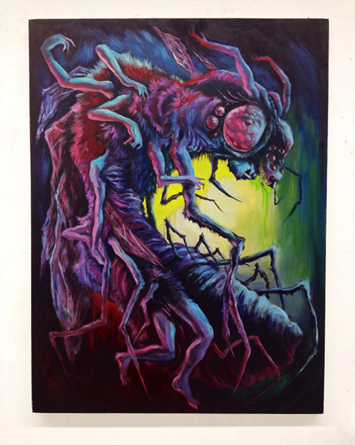 """""""Insect Politics"""" Oil on Canvas. 30x40 2014"""