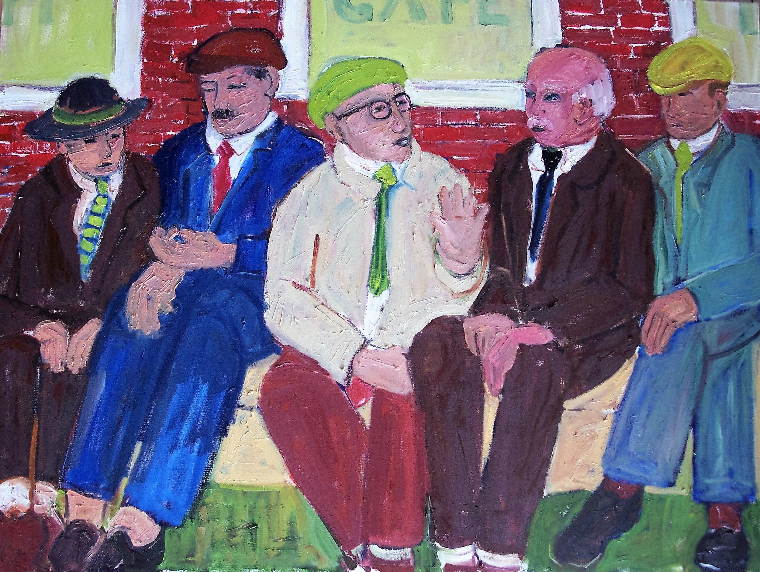 Five Men (36 X 48)