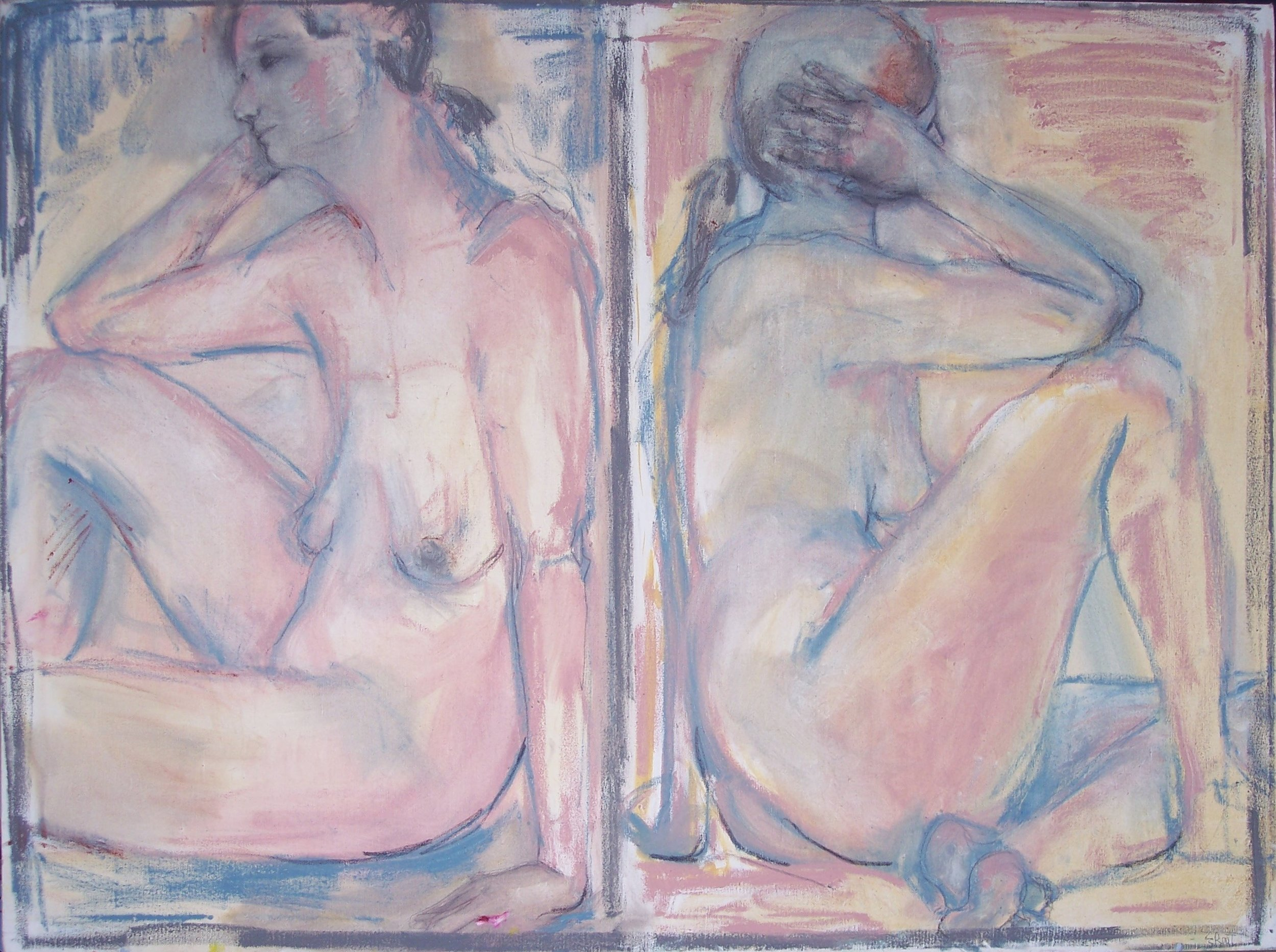Two Nudes (30 X 40)