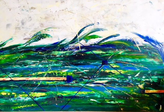 """Winter Waves"" 48"" x 72"" Acrylic on Wood Panel- $3500"