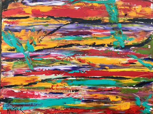 """Fairytale"" (Sunset Series) 30"" x 40"" Acrylic on Canvas- $1200"