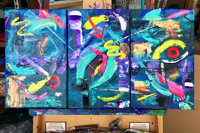 """Days Gone By""  (Triptych)"