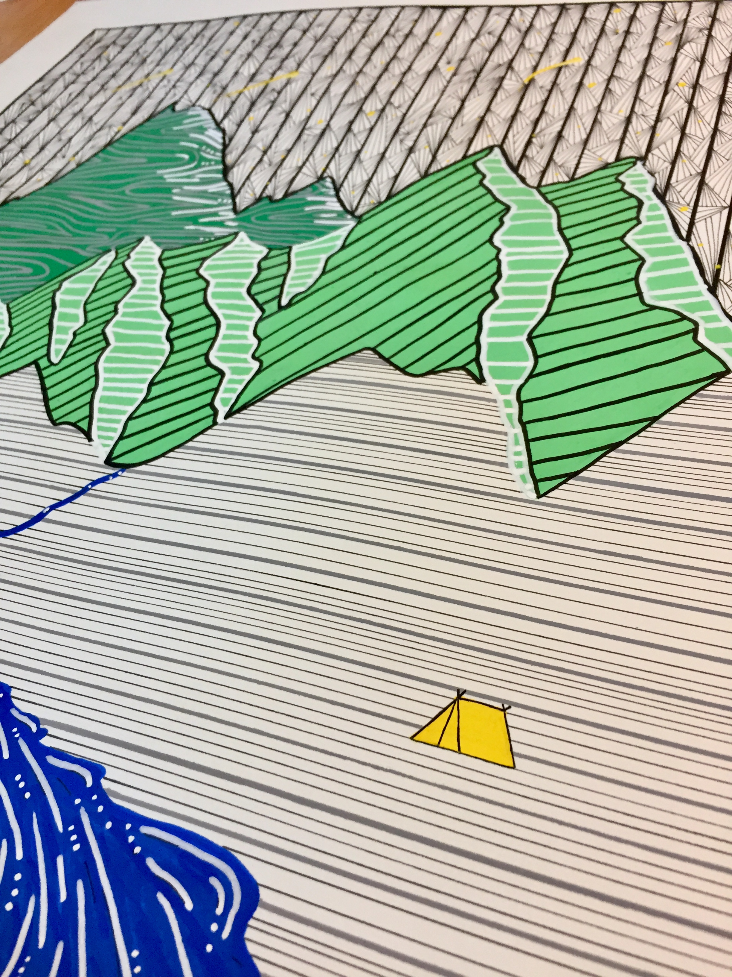 Mountain Lines Process
