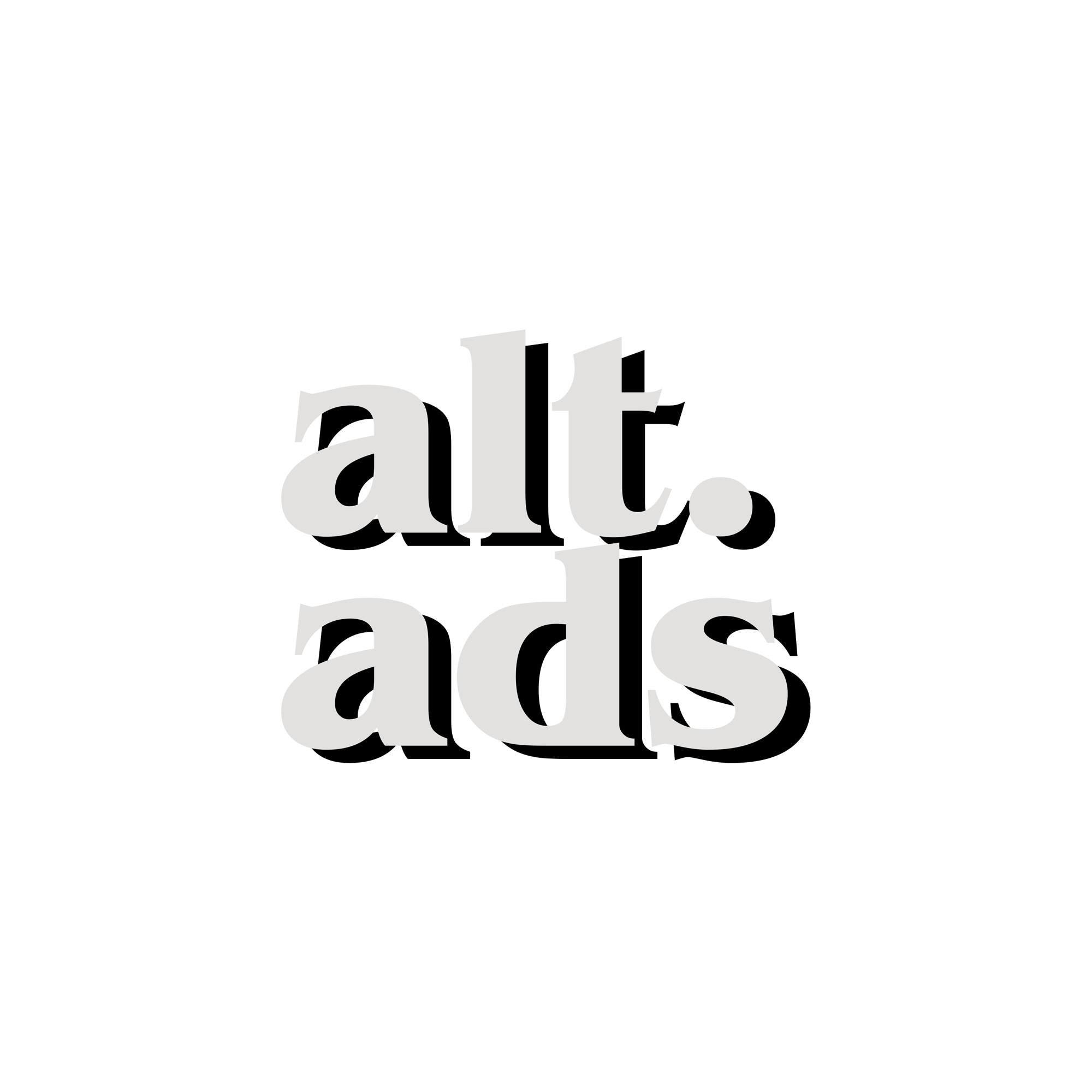 Alternative Ads. - An original series made of ads from an alternate universe that I'd much rather being living in.