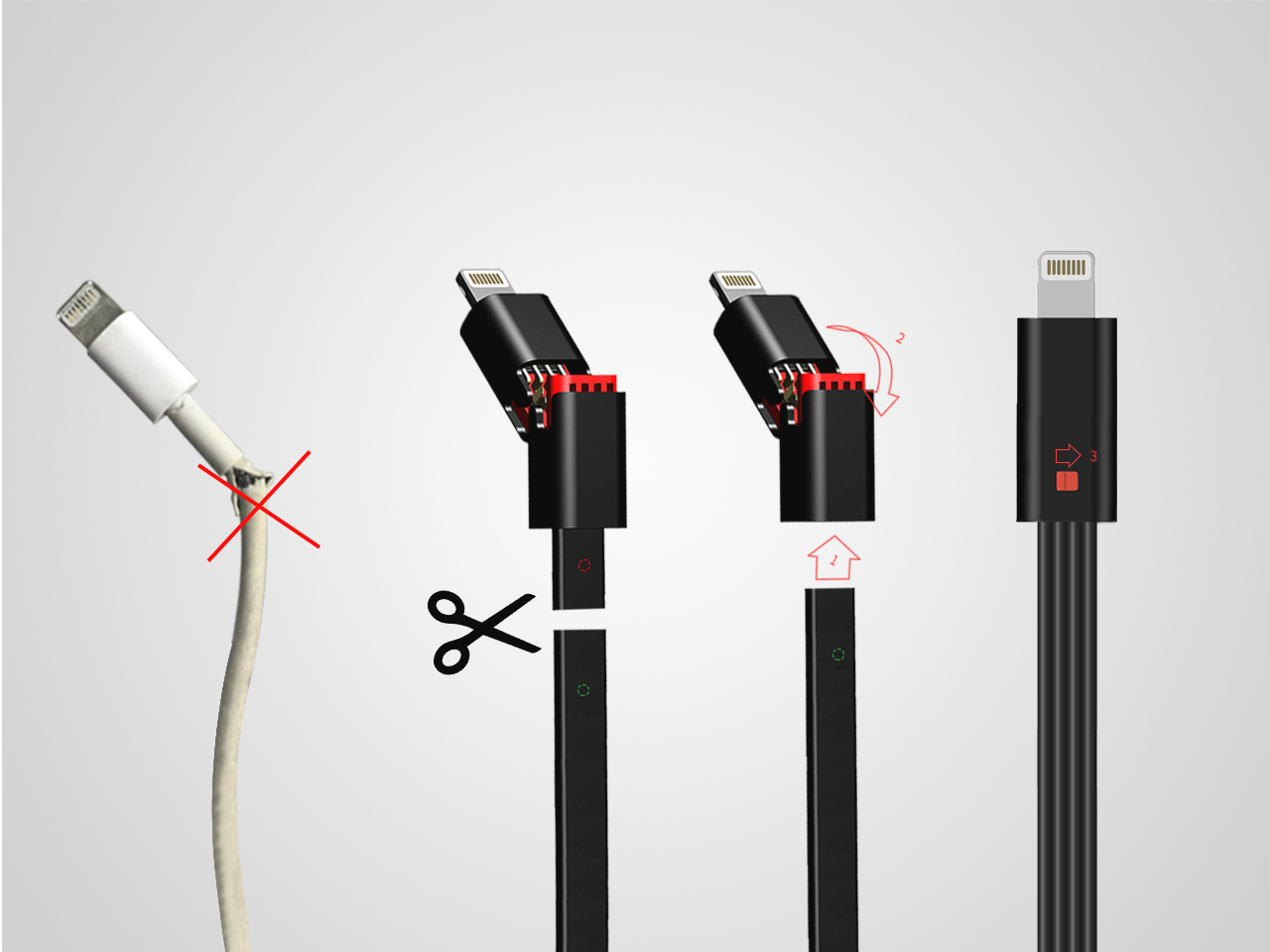 Never again worry about replacing your broken USB cable.  - This is the resilient USB cable you have been dreaming of owning and the most eco-friendly USB Cable ever.