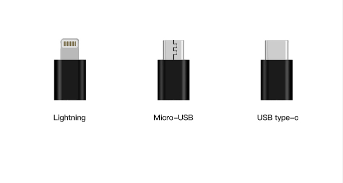 - -All three types of cable connectors available to support different devices.