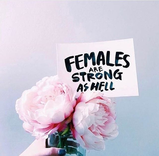Today feels like a good time to remind all you beautiful woman that FEMALES ARE STRONG AS HELL!! Bad days can hit us really hard and make us doubt ourselves, the journey we've set fourth on and unfortunately the people we surround ourselves with, but it's always important to stay focus and strong in your beliefs. Believe in yourself and never let the negative space derail you from your destination point. No matter how hard it is remember that what is meant to be will be. Happy Wednesday!